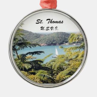 St. Thomas, U.S.V.I. Metal Ornament