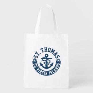 St. Thomas US. Virgin Islands Reusable Grocery Bag