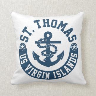 St. Thomas US. Virgin Islands Throw Pillow