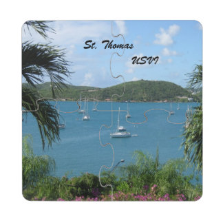 St. Thomas, USVI Drink Coaster Puzzle