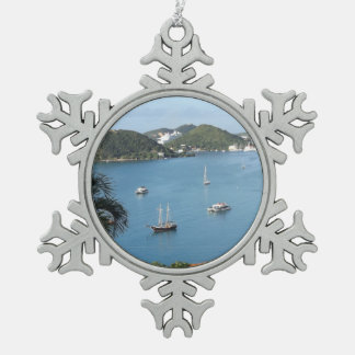 St. Thomas, USVI Pewter Snowflake Ornament