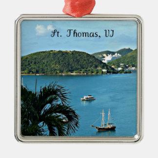 St. Thomas, VI Metal Ornament