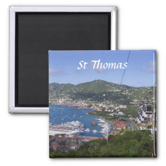 St Thomas View Square Magnet