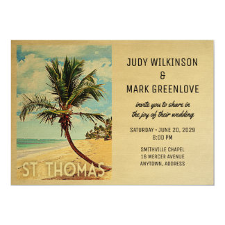 St Thomas Wedding Invitation Vintage Virgin Island
