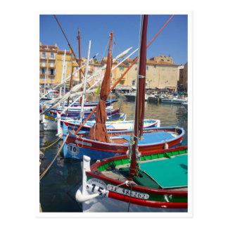 st tropez sails postcard