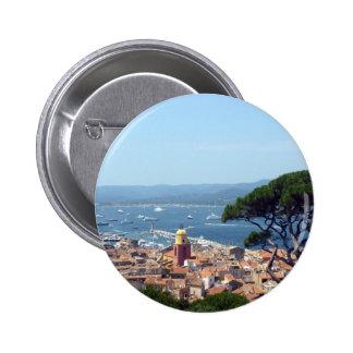 st tropez view 2 inch round button