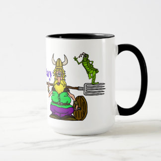 St. Urho Mug with Peace Grasshopper