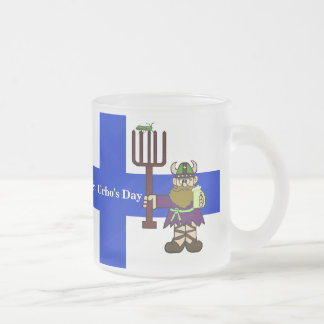 St. Urho with Grasshoppers Finnish Flag Beer Mug