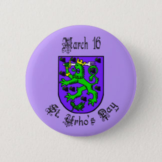 St. Urho's Day Coat of Arms Purple Button
