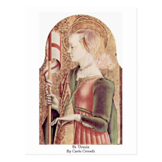 St. Ursula By Carlo Crivelli Postcard
