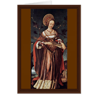 St. Ursula By Hans Holbein The Younger Card