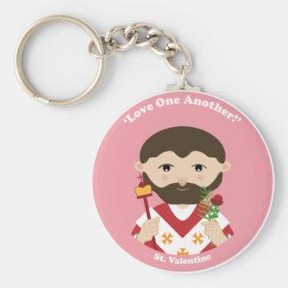 St. Valentine Basic Round Button Keychain