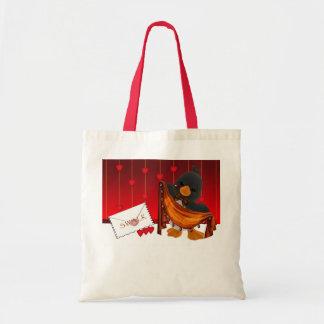 St.Valentine's Day Bag, Valentine Penguin Hearts