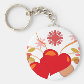 St. Valentine's day Basic Round Button Keychain