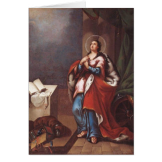 St. Varvara (Barbara)  by Vladimir Borovikovsky Card