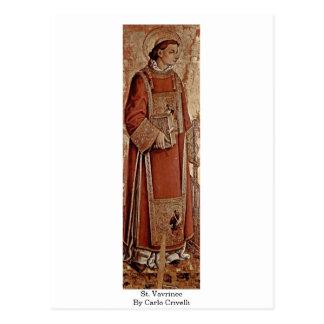 St. Vavrinec By Carlo Crivelli Postcard