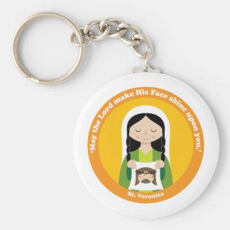 St. Veronica Basic Round Button Keychain