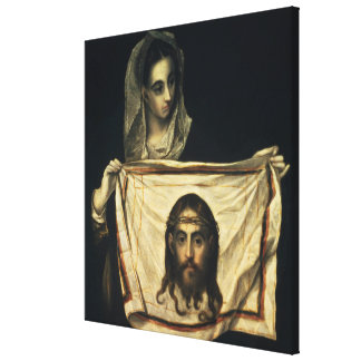 St.Veronica with the Holy Shroud Canvas Print