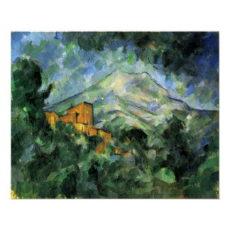 St. Victoire and Chateau Noir by Paul Cezanne Poster