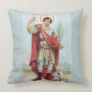 St. Victor Cross Soldier Martyr Throw Pillow