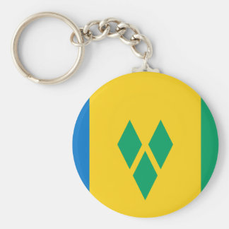 St Vincent and the Grenadines Flag Keychain
