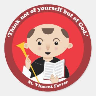 St. Vincent Ferrer Classic Round Sticker