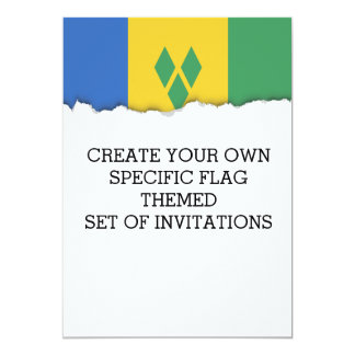 ST. Vincent Flag Card