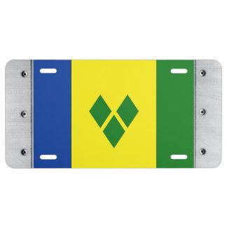 St. Vincent Flag License Plate
