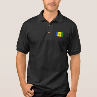 St. Vincent Flag Polo Shirt