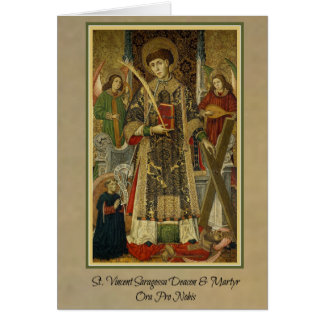 St. Vincent Saragossa Deacon-Martyr Greeting Card