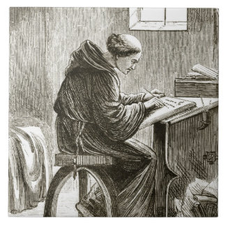 St. Vincent writing in his cell at Ferins, from 'T Tile