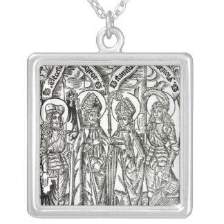 St. Wenceslaus, Adalbert,Stanislaus St. Florian Silver Plated Necklace