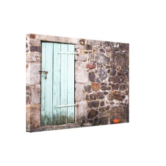 Stable Door and Stone Wall Canvas Print