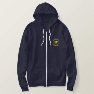 Stable girl equestrian horse riding embroidered hoodie