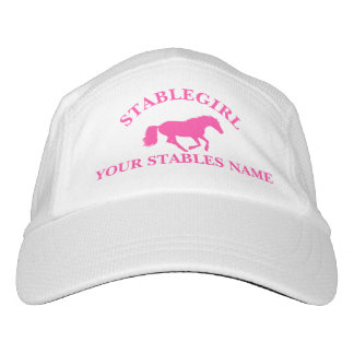 Stable girl pink pony equestrian horse design hat