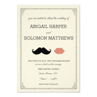 stache + kiss —Mustache & Lips Wedding Invitation