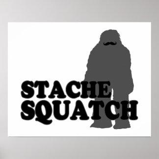 Stache Squatch Poster