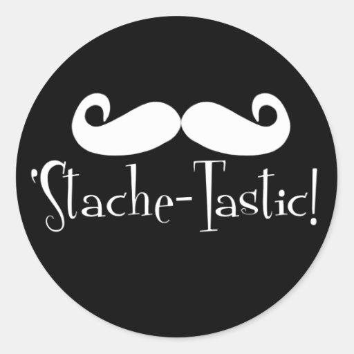 'Stache-tastic Round Sticker