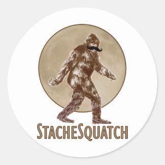 STACHESQUATCH I Moustache if you've Seen My Classic Round Sticker