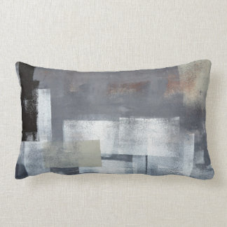 'Stack It Up' Neutral Abstract Art Pillow
