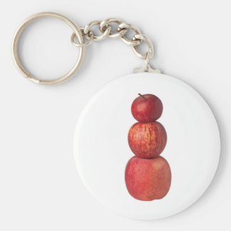 Stack of apples keychain