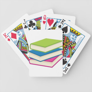 Stack of Books Bicycle Playing Cards