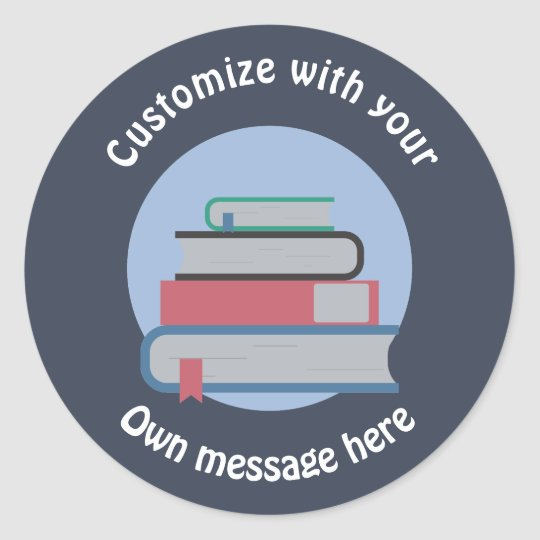 Stack of Books Classic Round Sticker