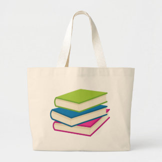 Stack of Books Large Tote Bag
