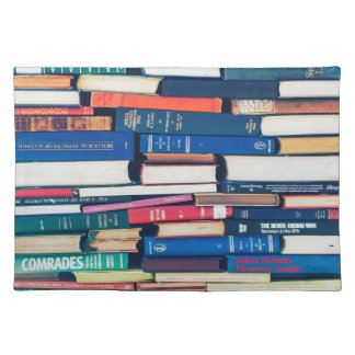 Stack of books placemat