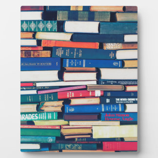 Stack of books plaque