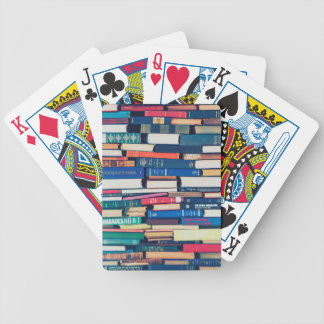 Stack of books poker deck