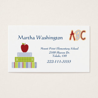 Stack of Books Teachers Business Card