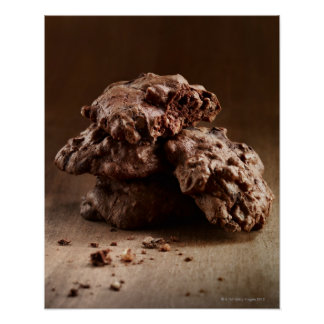 Stack of Chocolate Cookies Poster