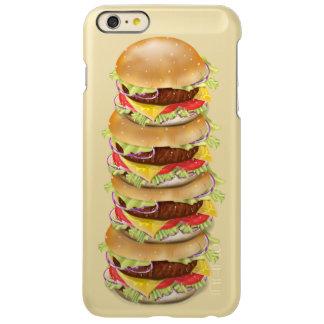 Stack of hamburgers or cheeseburgers